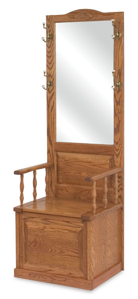 Raised Panel Hall Seat AJW20124 By A&J Woodworking