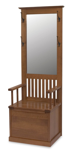 Mission Hall Seat AJW20224 By A&J Woodworking