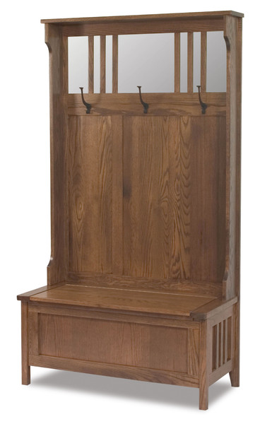 Rustic Hall Seat AJW204 By A&J Woodworking