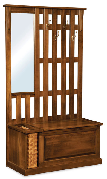 Country Hall Seat AJW207 By A&J Woodworking
