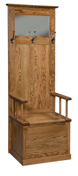 Heritage Mission Hall Seat AJW20824 By A&J Woodworking
