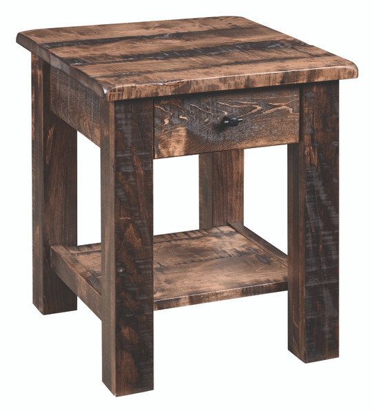 Barn Floor Collection End Table BFET20 By Frog Pond Furniture