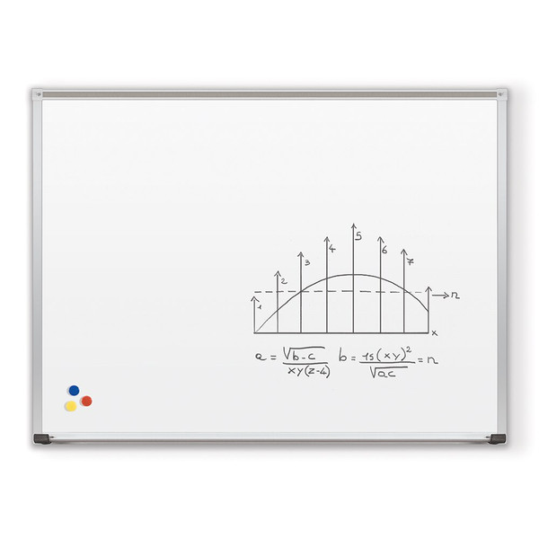 Porcelain Steel Whiteboard With Deluxe Aluminum Trim 202A
