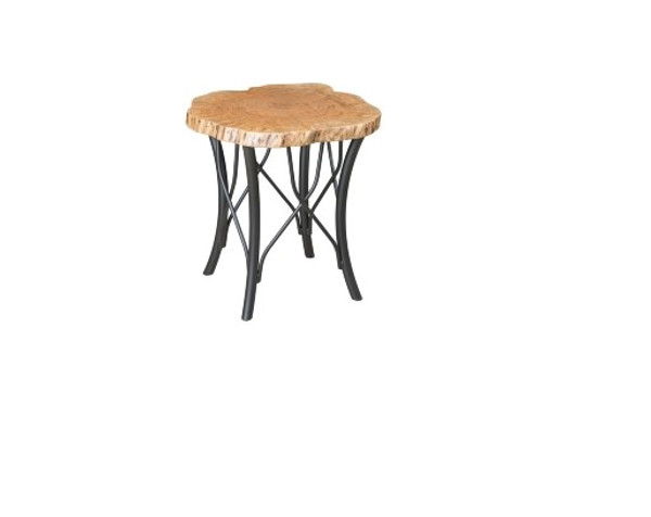 """Hilton Live Edge Tables Collection 24"""" Round End Table HETR24 By Frog Pond Furniture"""