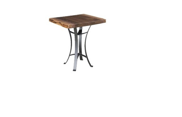 """Kingston Live Edge Tables Collection 22"""" End Table KET22 By Frog Pond Furniture"""