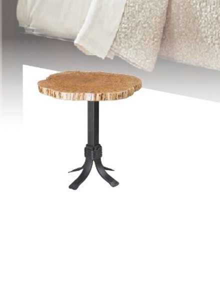 """Seminole Live Edge Tables Collection 24"""" Round End Table SETR24 By Frog Pond Furniture"""