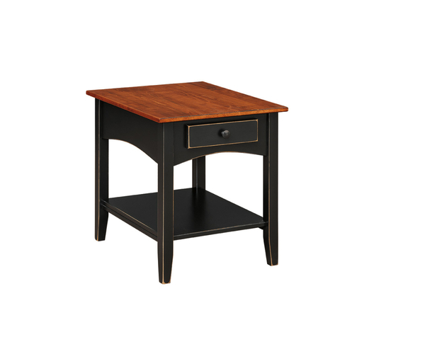 End Table With Shelf 104 By Forest Ridge Woodworking