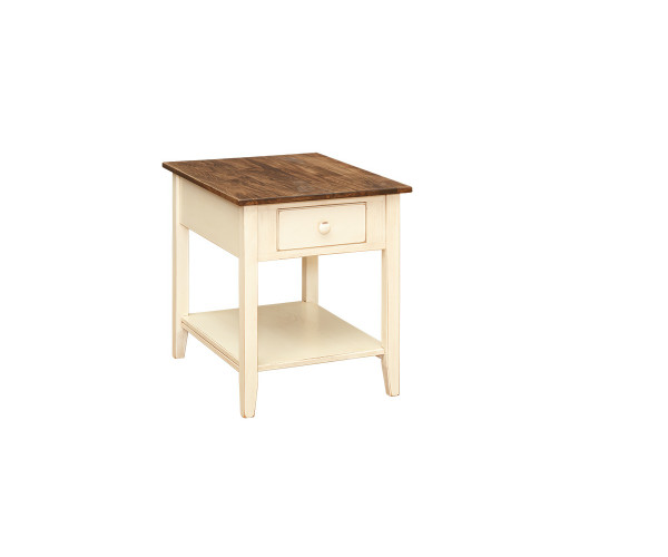 End Table With Shelf & Drawer T111 By Forest Ridge Woodworking