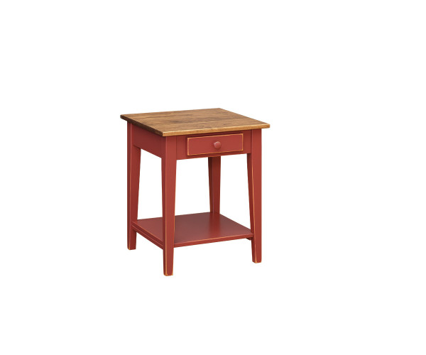 Shaker End Table With Shelf T101A By Forest Ridge Woodworking