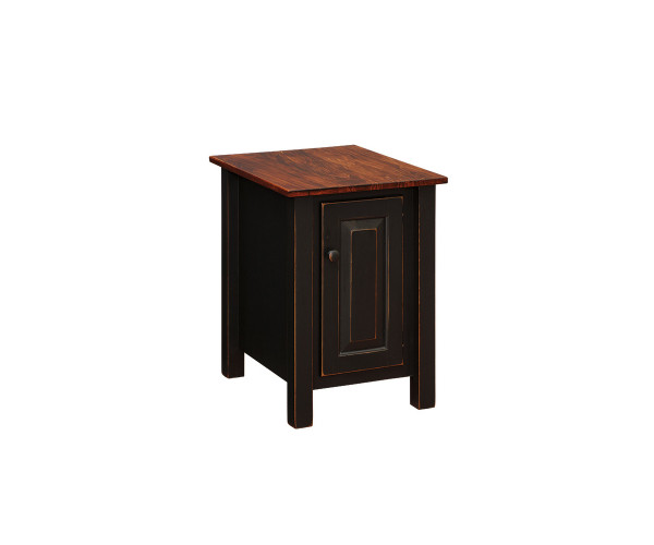 End Table With Door Wmt T103 By Forest Ridge Woodworking