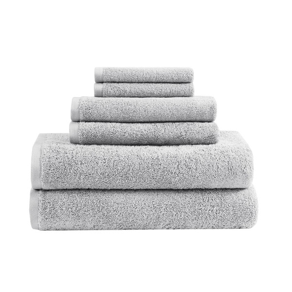 Loft 100% Cotton Solid 6 Piece Antimicrobial Towel Set - By Clean Spaces LCN73-0059