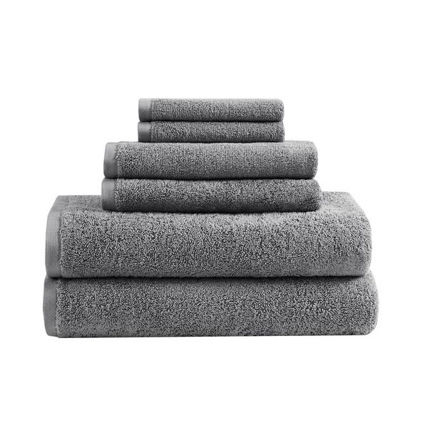 Loft 100% Cotton Solid 6 Piece Antimicrobial Towel Set - By Clean Spaces LCN73-0060