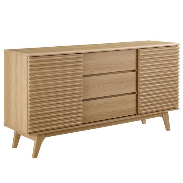 "Modway Render 63"" Sideboard Buffet Table Or Tv Stand EEI-3344-OAK"