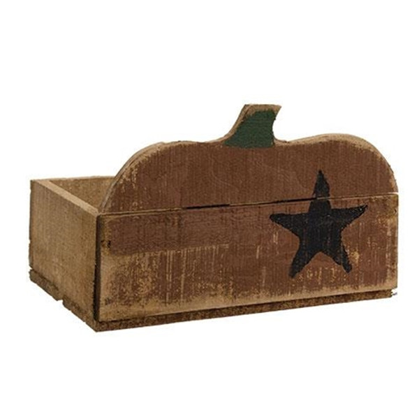 Rustic Pumpkin Crate G21312 By CWI Gifts