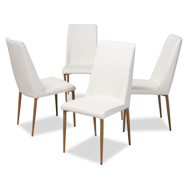 Baxton Studio Armand Modern And Contemporary Dining Chair 112157-1-White