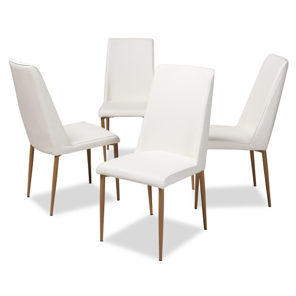 Baxton Studio Blaise Modern And Contemporary Dining Chair 112157-4-White