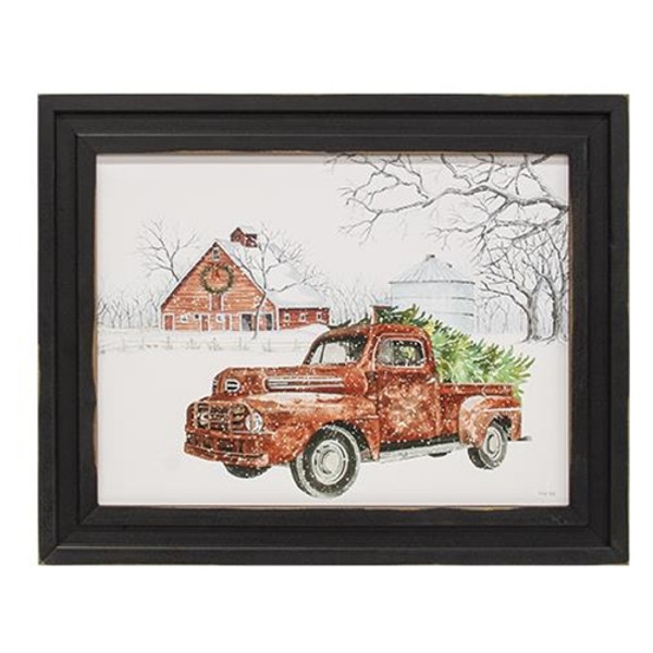 Christmas Cargo Truck Framed Print 12X16 GKC26781216 By CWI Gifts