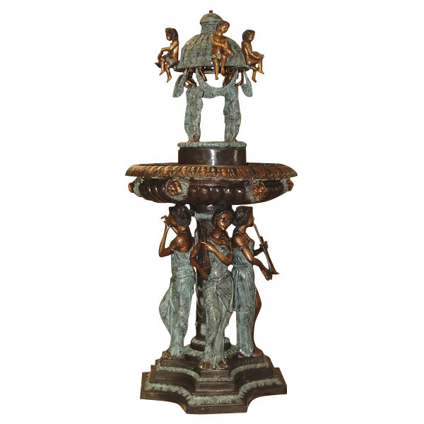 AFD Home Musician Lady Standing With Dome Fountain 103 Inch 10391691