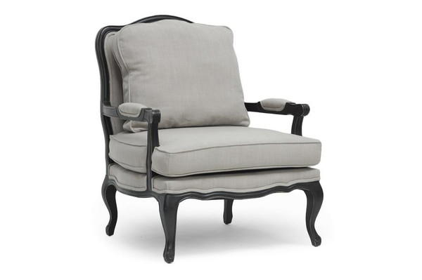Baxton Studio Antoinette Classic Antiqued French Accent Chair 52348-Beige