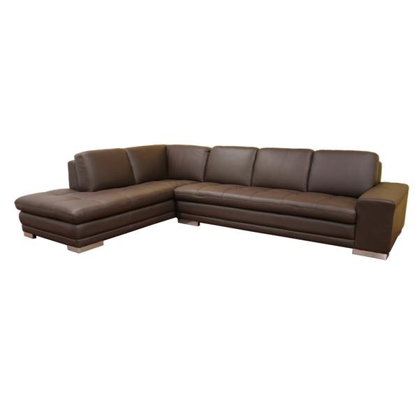 Baxton Studio Callidora Brown Leather Match Sectional 766-sofa/lying-M9805