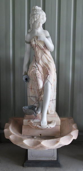 AFD Home Woman In Fountain In Multi Colored Marble 18177 12012653