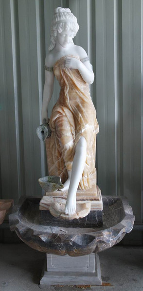 AFD Home Woman In Fountain In Multi Colored Marble 18178 12012636