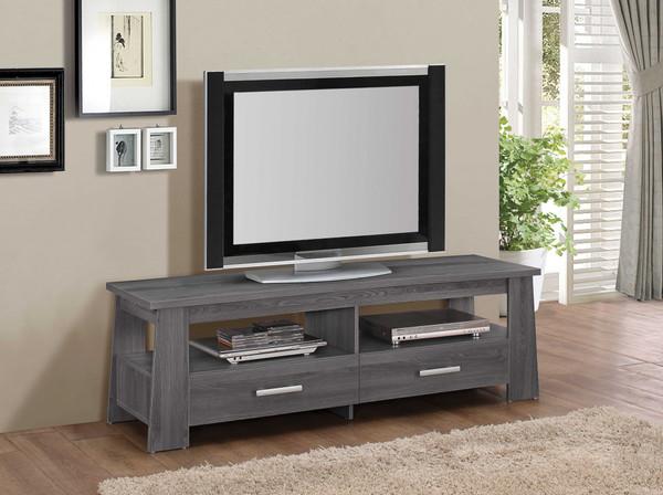 "63"" X 18"" X 20"" Dark Gray Oak Tv Stand 285408 By Homeroots"