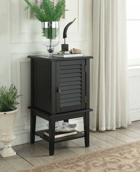 """16"""" X 16"""" X 30"""" Black Wood Side Table 374201 By Homeroots"""