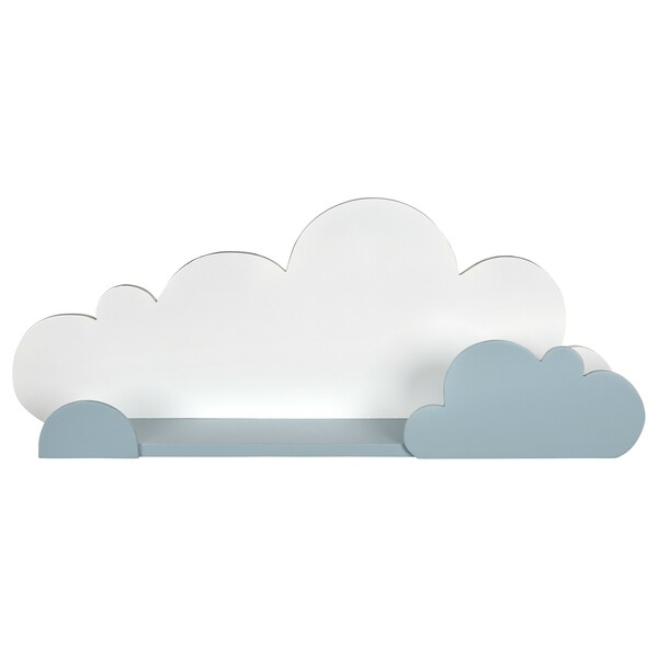 Blue And White Cloud Wall Shelf 383245 By Homeroots