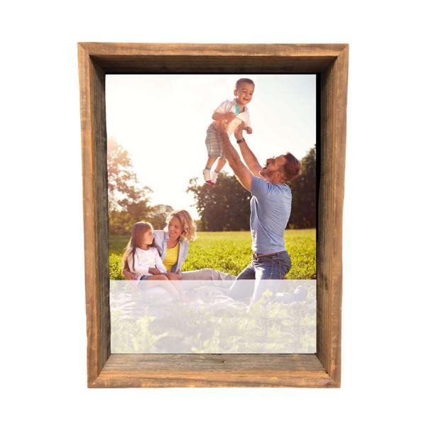 "8"" X 10"" Rustic Farmhouse Gray Shadow Box Frame 386492 By Homeroots"