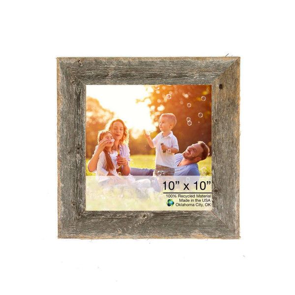 """10"""" X 10"""" Rustic Farmhouse Gray Wood Frame 386493 By Homeroots"""