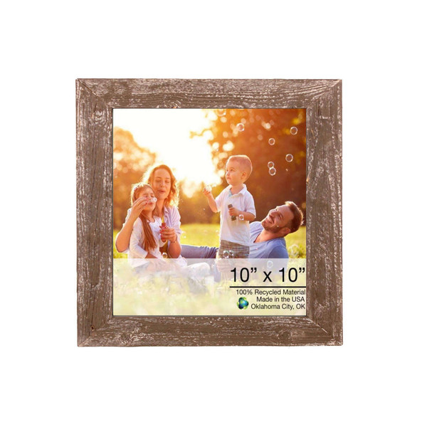 """10"""" X 10"""" Rustic Farmhouse Brown Wood Frame 386494 By Homeroots"""