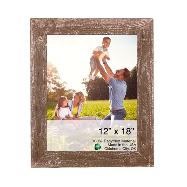 """12"""" X 18"""" Rustic Farmhouse Brown Wood Frame 386507 By Homeroots"""