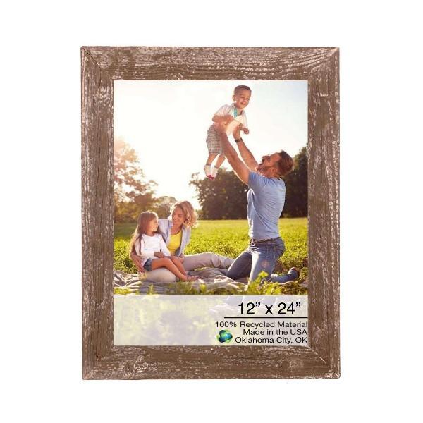 "12"" X 24"" Rustic Farmhouse Espresso Wood Frame 386511 By Homeroots"