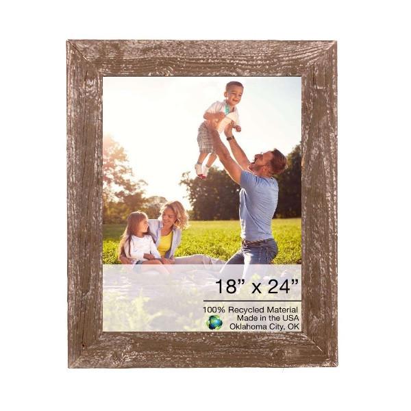 "18"" X 24"" Rustic Farmhouse Espresso Wood Frame 386523 By Homeroots"