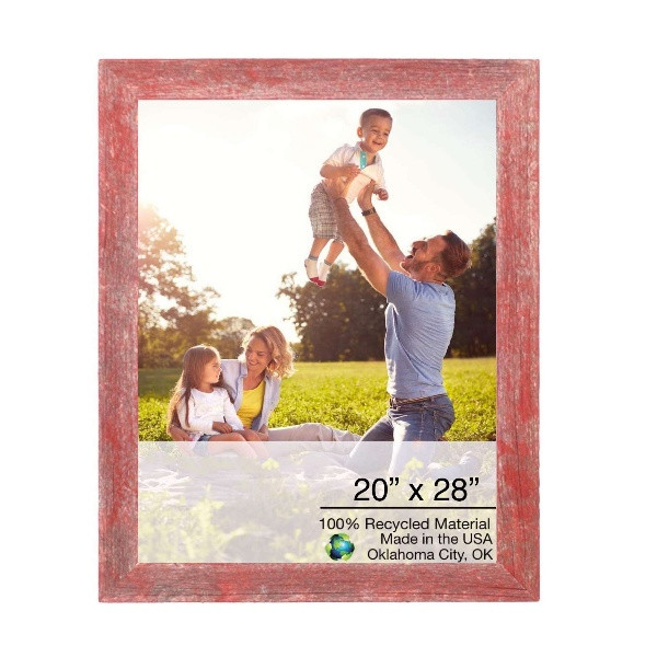 """20"""" X 28"""" Rustic Farmhouse Red Wood Frame 386535 By Homeroots"""