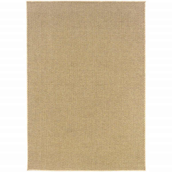 2'X4' Solid Sand Beige Indoor Outdoor Scatter Rug 389616 By Homeroots