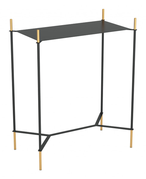 Austin Side Table Black & Gold 389826 By Homeroots