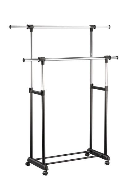 Garment Rack, Black - Metal Tube 32, 28, 19M Black 285481 By Homeroots