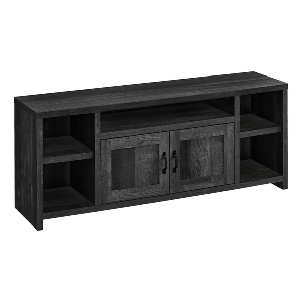 """Monarch Tv Stand - 60""""L - Black Reclaimed Wood-Look I 2743"""
