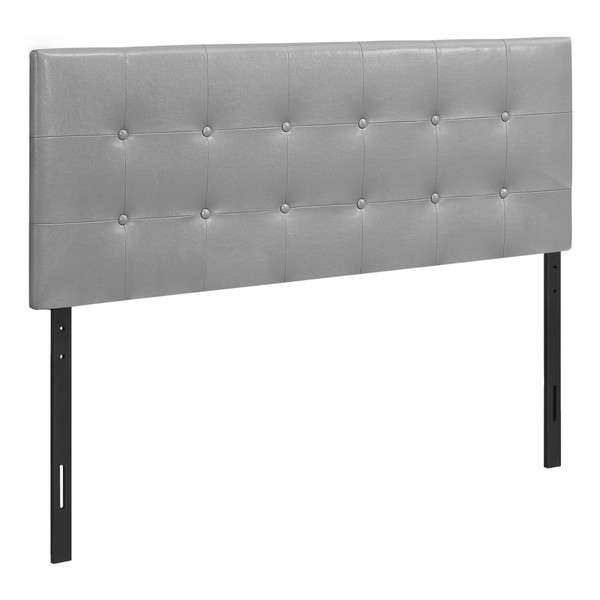 Monarch Bed - Full Size - Grey Leather-Look Headboard Only I 6001F