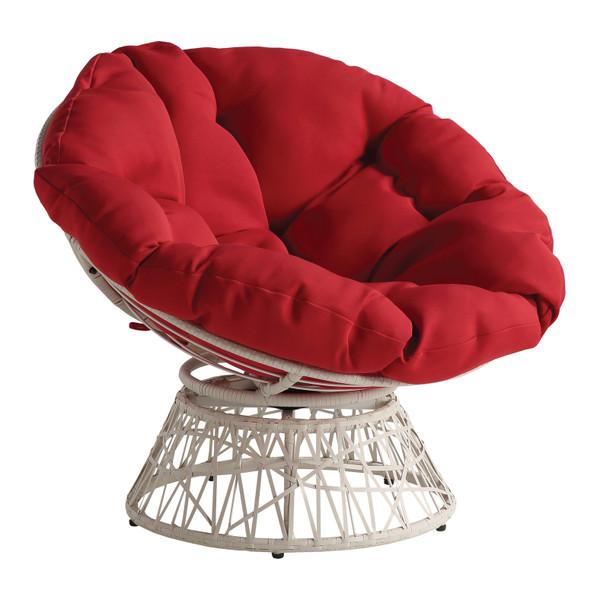 Office Star Papasan Chair - Red BF29296CM-RD
