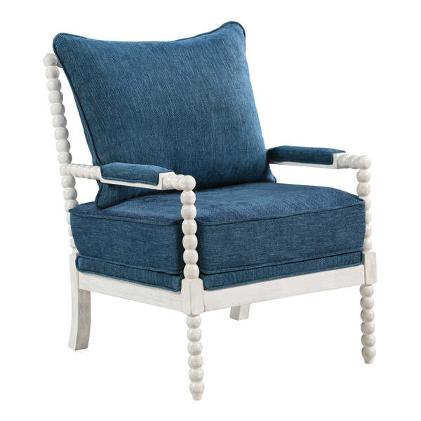 Office Star Kaylee Spindle Chair - Navy KLE-H16