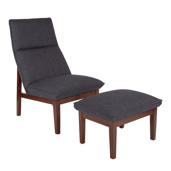 Office Star Navy Cameron Chair And Ottoman CEN72-M19