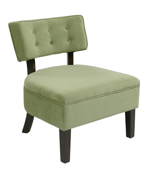 Office Star Curves Button Accent Chair - Spring Green CVS263-G28