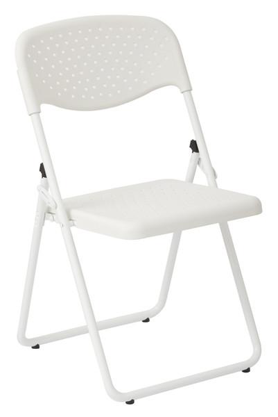 Office Star White Frame Folding Chair - Set Of 4 - White FC8000NW-11