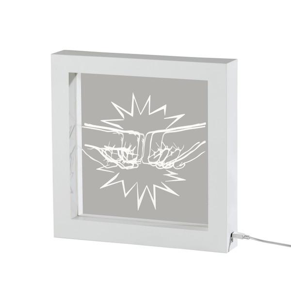 Adesso Fist Bump Video Light Box - White SL3724-02