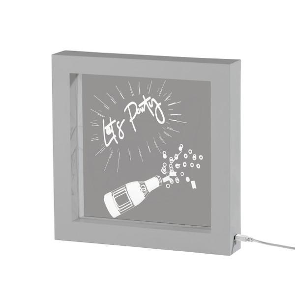 Adesso Lets Party Video Light Box - Silver SL3725-22
