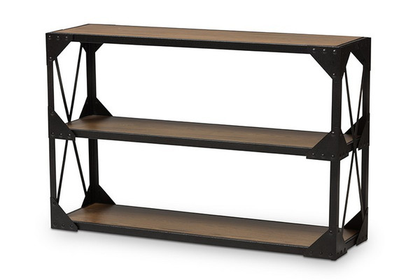 Baxton Studio Hudson Black Metal Occasional Console Table CA-1120-ST
