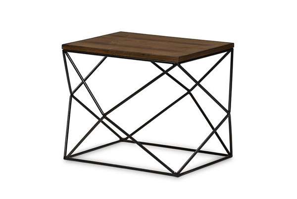 Baxton Studio Stilo Black Metal Occasional End Table CA-1135-ET
